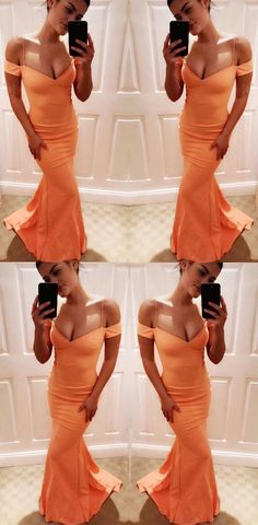 Unique Simple Charming Orange Floor-length Prom Dresses, Sexy V Neck Spaghetti Straps Long Prom Dress, Shop plus-sized prom dresses for curvy figures and plus-size party dresses. Ball gowns for prom in plus sizes and short plus-sized prom dresses for Unique Prom Dresses, Long Prom Gowns, Prom Dresses 2017, Prom Dresses With Sleeves, Plus Size Prom Dresses, Popular Dresses, Ball Dresses, Ball Gowns, Dress Prom