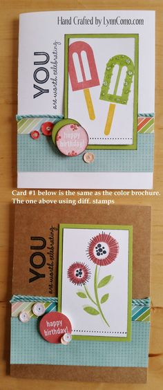 Blossom card kit, Card #2. You can learn more HERE: http://lynncomo.com/5…/blossom-a-versatile-kit-of-the-month/