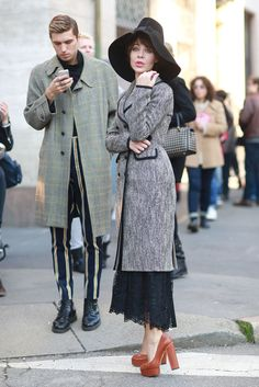 Ciao Bella! The Best Street Style From MFW: The street style landed in Milan for another round of Fall '14 shows.