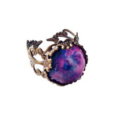 Violet Nebula Ring ditty drops