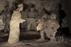 Salt sculptures 135 meters underground in the Wieliczka Salt Mine