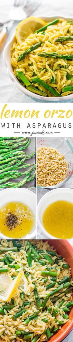 This Lemon Orzo with Asparagus is a simple, yet elegant dish that could be served as a side dish or starter. USE GF ORZO Orzo Recipes, Side Dish Recipes, Veggie Recipes, Vegetarian Recipes, Dinner Recipes, Cooking Recipes, Healthy Recipes, Recipes With Asparagus, Vegetarian Side Dishes