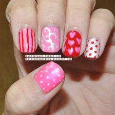 Katrina's Nail Blog VALENTINE #nail #nails #nailart
