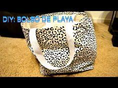 DIY Cómo hacer un bolso de playa- YouTube