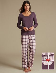 Pure Cotton Checked Pyjamas with StayNEW™ | M&S