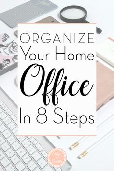 Organize Your Home Office in 8 Steps! - - Home office organization doesn't have to be difficult. You can organize your home office in 8 simple steps. Learn the how and why of each step in this post! Office Organization At Work, Organization Hacks, Organizing Ideas, Office Ideas For Work, Business Organization, Home Office Space, Home Office Design, Office Spaces, Design Desk