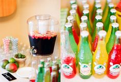 Great drink options #bridalshower #polkadotdesign