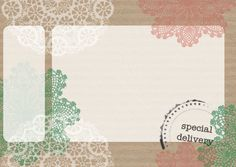 Free printable mailing label with doilies