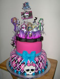 Monster High - Decoración De Fiestas De Cumpleaños Infantiles                                                                                                                                                      Más