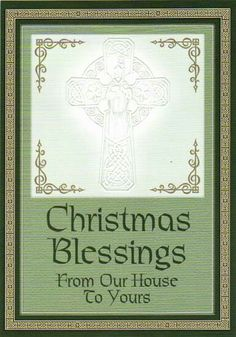 Christmas Christmas Greeting Cards, Christmas Greetings, Celtic Christmas, Christmas Blessings, Blessed, Seasons, Frame, Crafts, Picture Frame