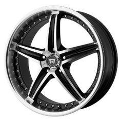 "Motegi Racing Series MR107 Gloss Black Finish Machined Wheel (17x7.5""/5x4.5"")"
