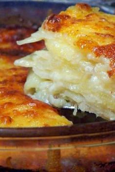 Scalloped Potatoes Added half and half to cover layers and a little extra salt and thinly sliced onion.  Very good!