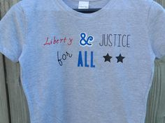 Liberty and Justice for all t-shirt by OneBlockUnited on Etsy