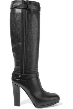 BELSTAFF Gainsborough smooth and textured leather boots. #belstaff #shoes #boots