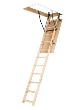 Attic Ladder (Wooden Basic) LWN 22 1/2x54 250 lbs 10 ft 1 in Attic Doors, Garage Attic, Attic House, Attic Window, Window Seats, Attic Staircase, Attic Ladder, Folding Ladder, Attic Loft