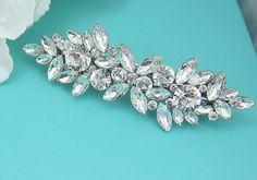 Bridal Rhinestone Crystal Barrette Bridal by AllureWeddingJewelry