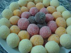 colored truffles