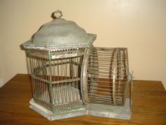 Rare Antique Vintage Squirrel Bird Cage