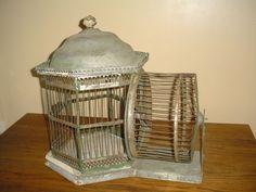 Rare Antique Vintage Squirrel Bird Cage
