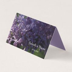 #wedding - #Purple Lilac Flowers Wedding Place Card