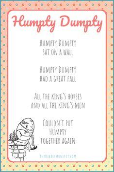 35 Nursery Rhymes with Lyrics and Youtube Video