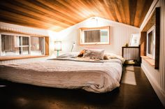 Love the large loft as bedroom