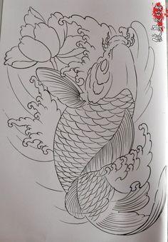 Japanese Drawings, Japanese Tattoo Designs, Japanese Tattoo Art, Japanese Sleeve Tattoos, Japanese Art, Pez Koi Tattoo, Koi Tattoo Sleeve, Carp Tattoo, Koi Fish Drawing