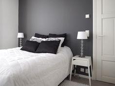 Home Bedroom, Master Bedroom, Bedroom Decor, Grey And White Room, Scandinavian Interior, Black House, Interior Inspiration, New Homes, Living Room