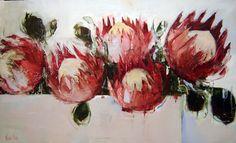 Normal 0 false false false EN-ZA X-NONE X-NONE Born in Durban in the talented Nicole Pletts, has been painting Protea Art, Protea Flower, Flower Vases, Flower Art, Art Flowers, Art Floral, Floral Paintings, Painting Flowers, Acrylic Paintings