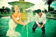 Trash the dress photo shoot. Why not? You're only going to wear that dress once.