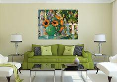 3D Green Vase Flower 64 Wall Stickers Vinyl Wall Murals Print Ajstore Us Lemon