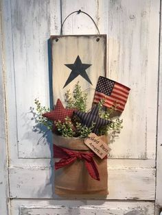 Americana Home Decor, Americana Crafts, Patriotic Crafts, Country Crafts, Primitive Crafts, Primitive Stars, 4th July Crafts, Fourth Of July Decor, 4th Of July Decorations