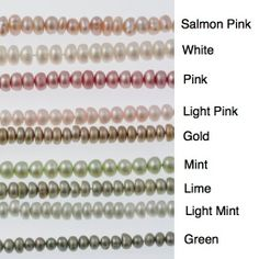 Freshwater Button Pearl Bead Strands by SemipreciousSilver on Etsy, $14.00