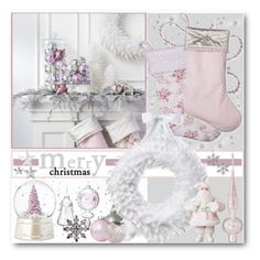 """Shabby Chic Christmas"" by brendariley-1 ❤ liked on Polyvore featuring interior, interiors, interior design, home, home decor, interior decorating, Shabby Chic, H&M, homedecor and shabbychic"
