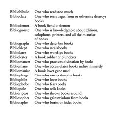 all things biblio-