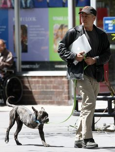 Jon Stewart Walks Three-Legged Dog, Champ, Melts Our Hearts (PHOTOS) (Jon just got 10x sexier from this one image)