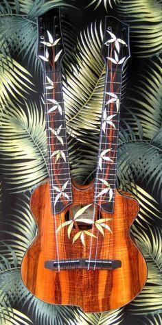 Double necked ukulele, or is that ukuleles?