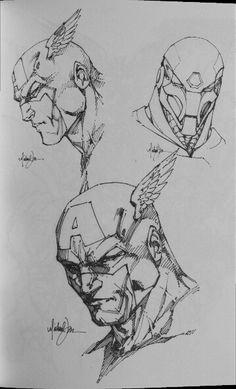 Captain America & Iron Man by Michael Turner