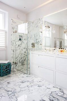 Unique White Marble Bathroom Floors