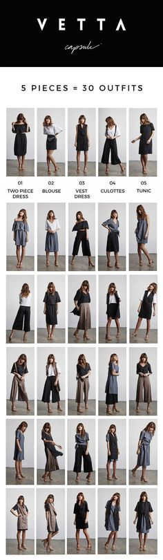 VETTA Capsule – 5 Pieces 30 Outfits