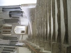 Worn stone staircase inside Wells Cathedral- Looks like the refuge they use at the end of the move Sound of Music... So neat.