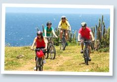 St Maarten also go mountain biking on hills for a sport.