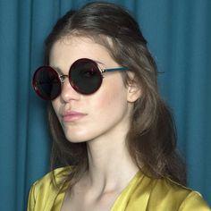 #TBT Backstage at @matthewwilliamson Autumn Winter 2015 Show. Model wears @matthewwilliamson X #LindaFarrow #MW125. Available www.lindafarrow.com. by lindafarrow  #nice #life #smile #instalove #beauty #happy #look #awesome #instalike #trendsineyewear #pretty #style #picoftheday #girls #sunnies #sunglasses #glasses #eyewear #eyewearfashion #fashionista