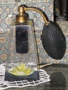 Art Deco Acrylic Perfume Atomizer Bottle