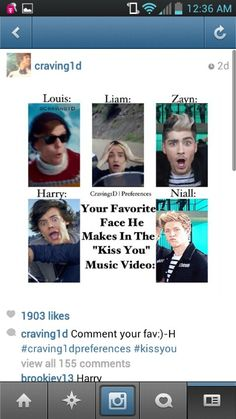 Your favourite Face He Makes In Thne 'Kiss You' Music Video. (Haha Harry's. I always laugh at it)