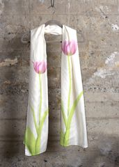 3 Pink Tulips: What a beautiful product!   #shopvida #womans #fashion #designer #tops #designer #scarves