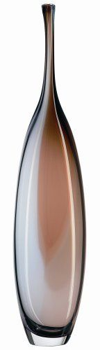 """Kosta Boda Tobago Tall Brown Bottle by Kosta Boda. $321.94. The Tobago collection consists of three bottles and a bowl. A beautiful piece of art for your home. Designed in Sweden in 2002 by Kjell Engman. Handmade in Sweden. 20.5"""" high. Named after the little Caribbean island, the pieces making up Kjell Engman's Tobago series, with their soft color scheme, stand strict and elegant.  I was inspired by organ pipes and wanted to infuse the glass with music and rhythm s..."""