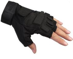 Seibertron® Men's Black S.O.L.A.G. Special Ops 1/2 Finger Light Assault Gloves Tactical fingerless half finger gloves S