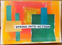 Spring postcard by Sandra Dorey, in iHanna's DIY Postcard Swap 2013. #mailart