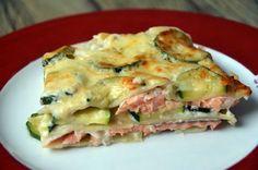 Lasagnes au saumon, courgettes et béchamel